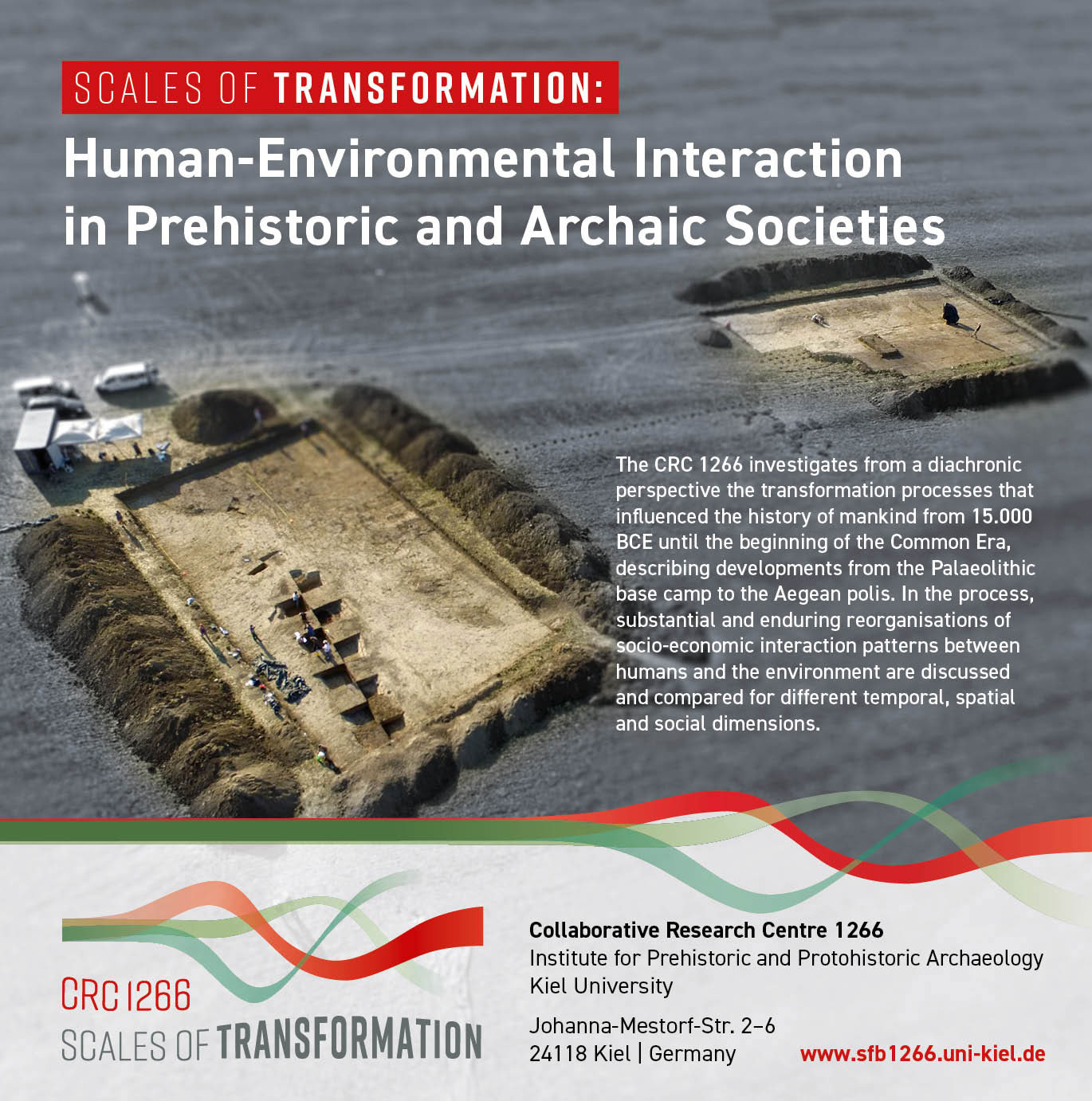 Looking at the period from 15,000 to 1 BCE, the CRC 1266 takes a diachronic  view in order to investigate the processes of transformation that led to  the ...